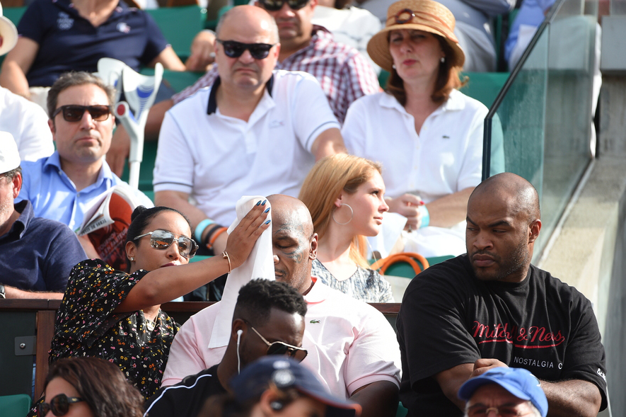 Mike Tyson à Roland-Garros 2018