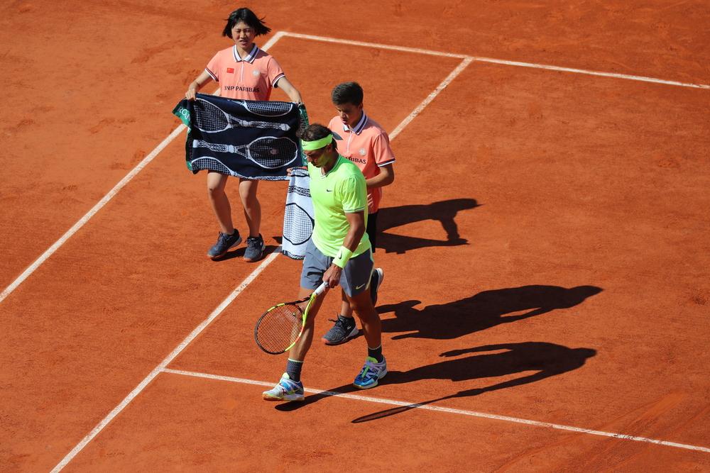 Ball kids with Rafael Nadal at Roland-Garros 2019
