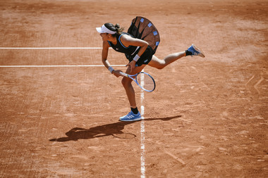 Garbine Muguruza Roland Garros 2019 first round against Taylor Townsend.