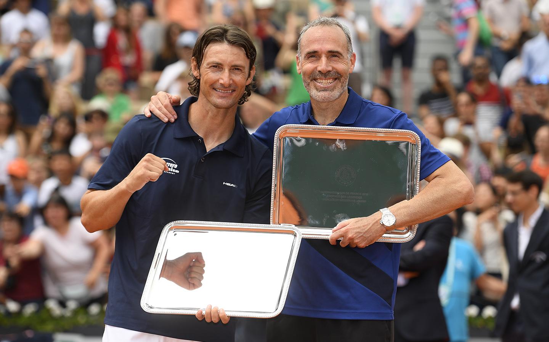 Légendes moins de 45 ans, Juan Carlo Ferrero et Alex Corretja, Roland-Garros 2018.jpg