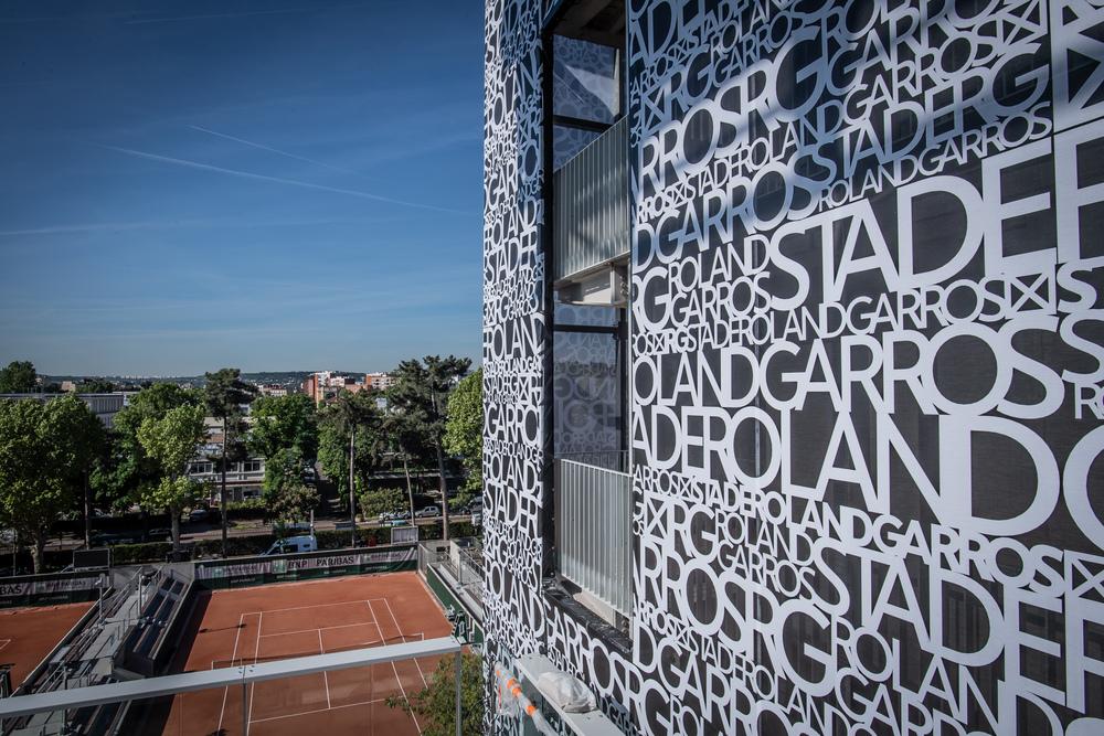 Les courts très parisiens de Roland-Garros 2019 avant le début du tournoi.