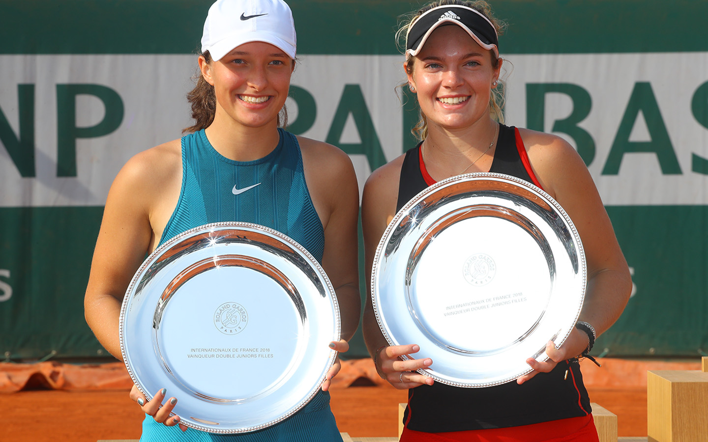 Iga Swiatek, Caty Mcnally, Double juniors filles Roland-Garros 2018