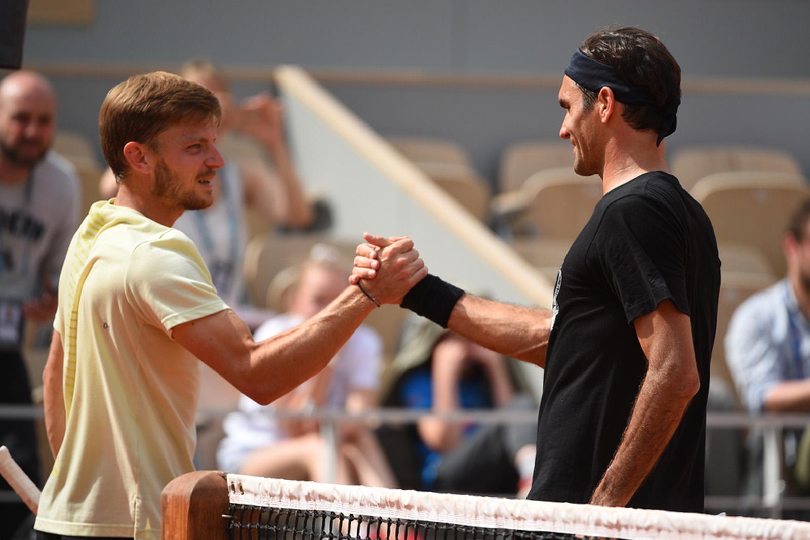 Roger Federer David Goffin Roland Garros 2019