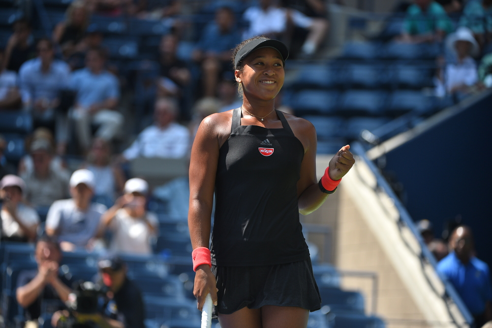 Naomi Osaka all smile at the US Open 2018