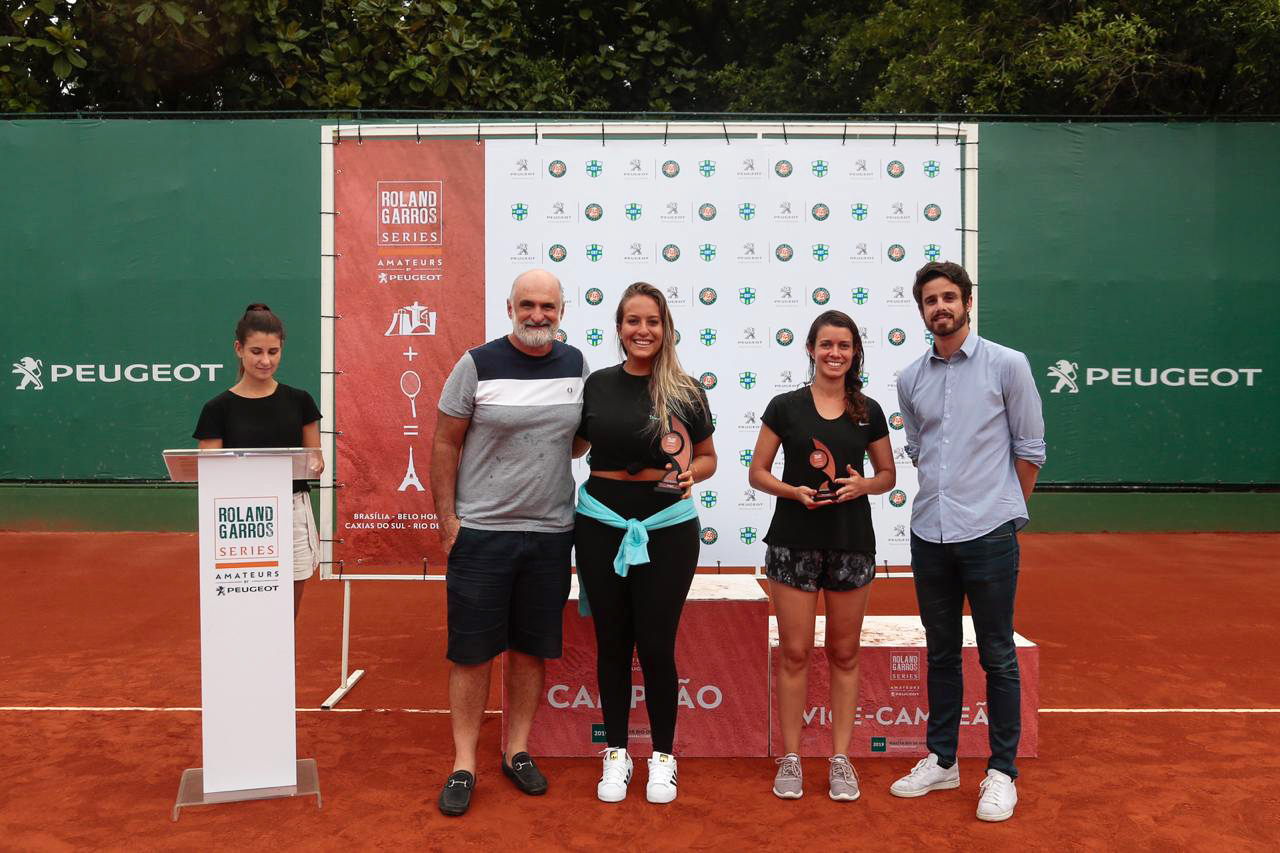 Ladies trophy ceeremony at the 2019 Roland-Garros Amateurs Series Brazil
