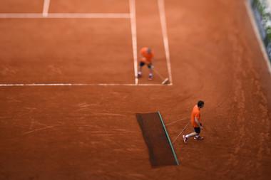 Entretien des courts, Roland-Garros 2018