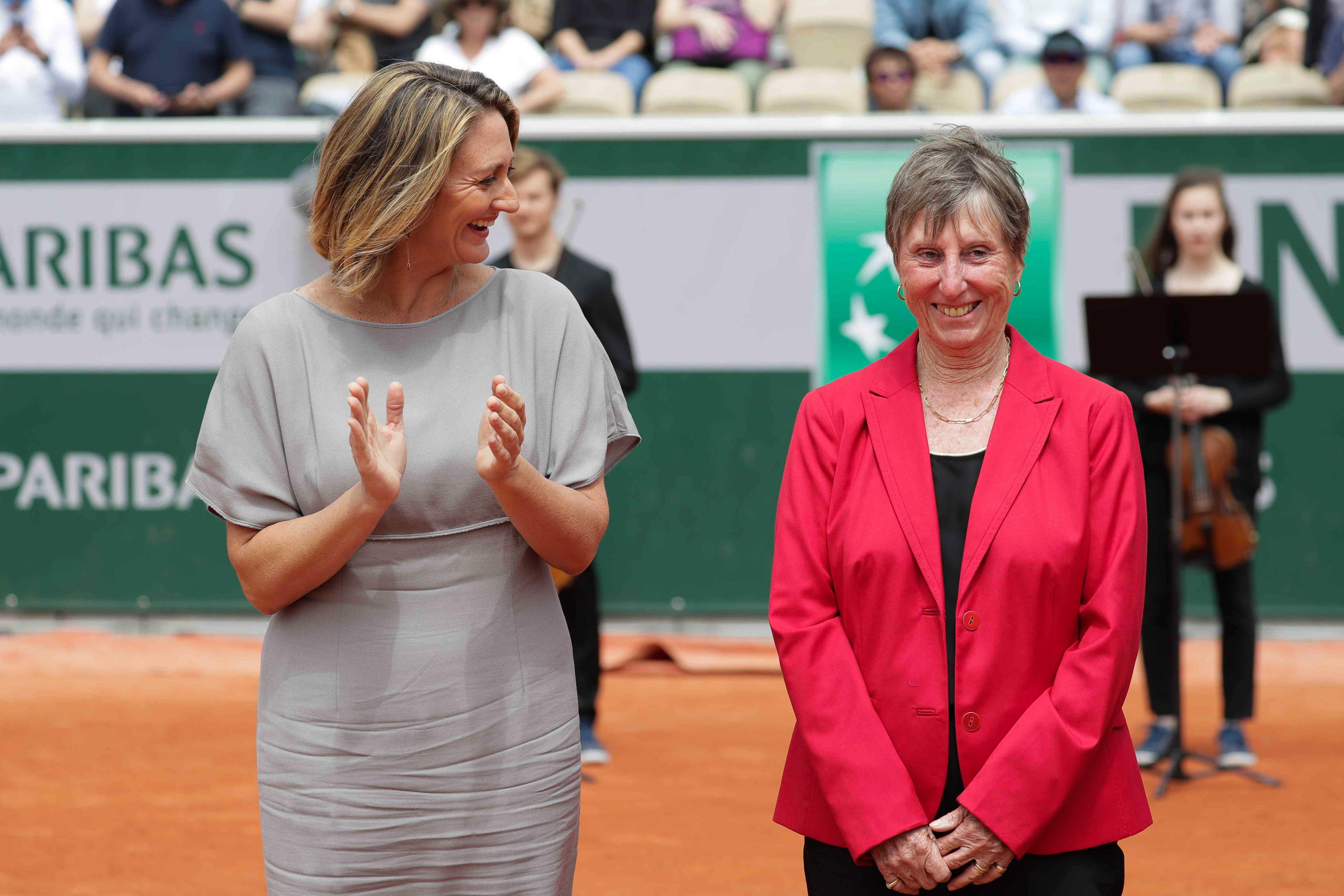 Roland-Garros 2019 - Court Simonne-Mathieu -Mary Pierce - Françoise Dürr