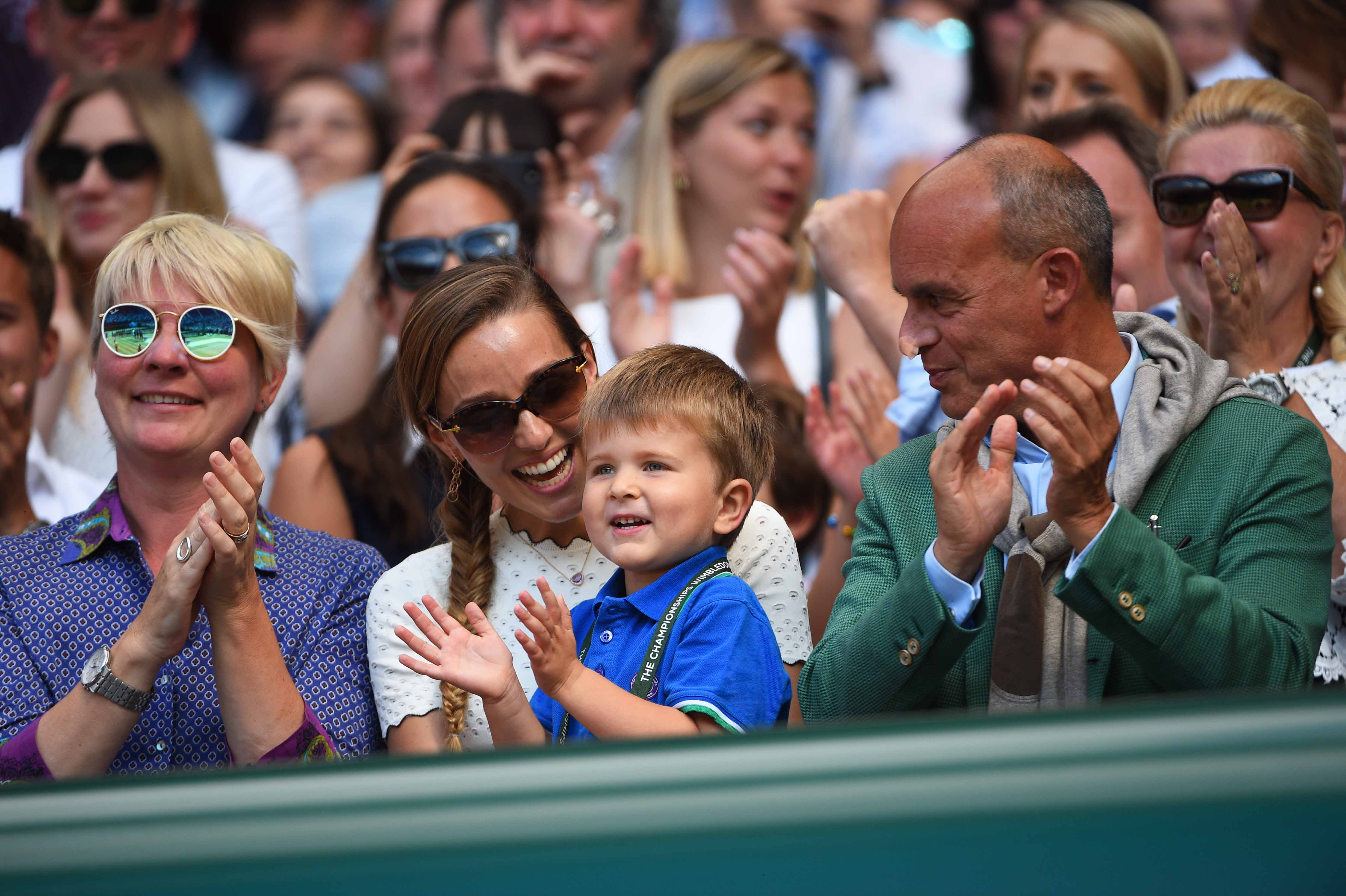 Stefan and Jelena Djokovic Wimbledon 2018.