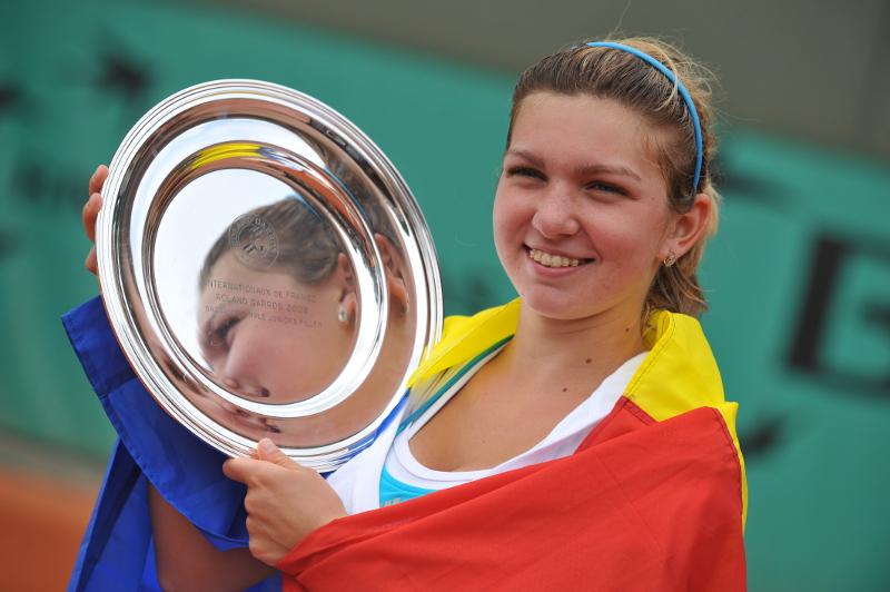 Simona Halep championne Roland-Garros juniors 2008 / girl's singles champion.