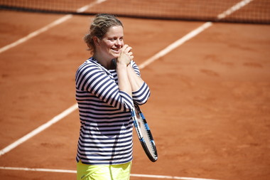 Smiling Kim Clijsters at Roland-Garros 2017