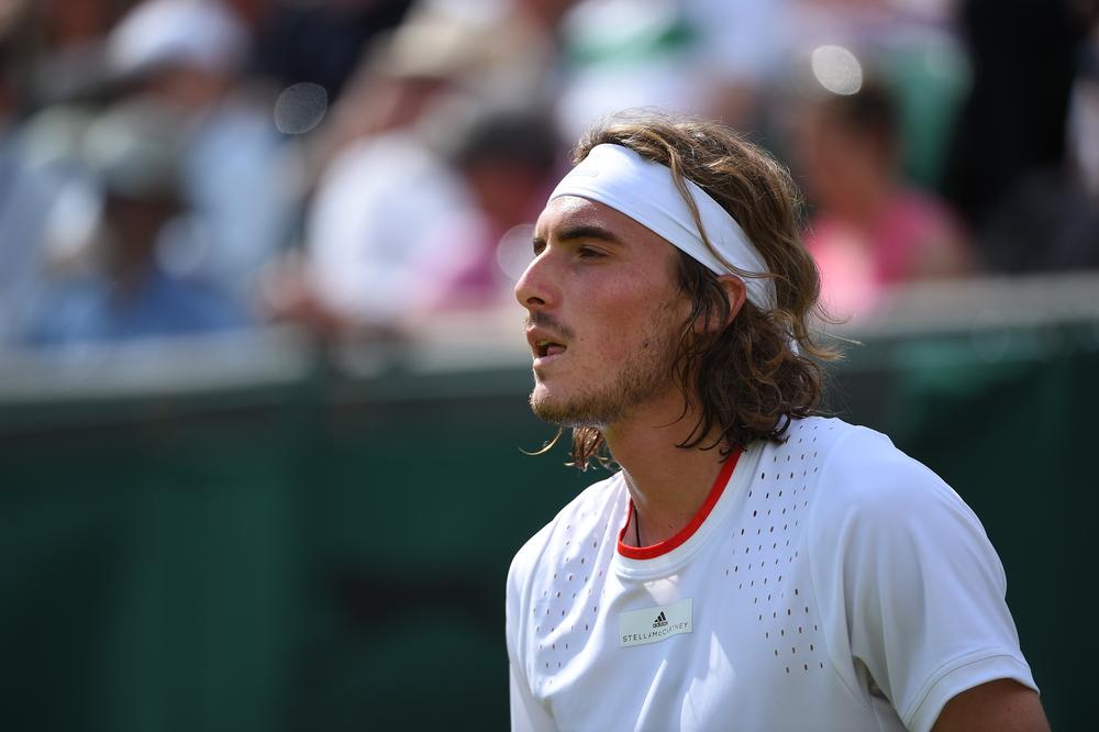 Stefanos Tsitsipas at Wimbledon 2019