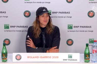 Roland-Garros 2019 - Garbiñe Muguruza - conférence de presse 1er tour