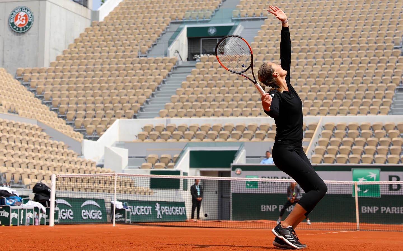 Kristina Mladenovic Victoria Azarenka Roland-Garros 2018 entraînement training