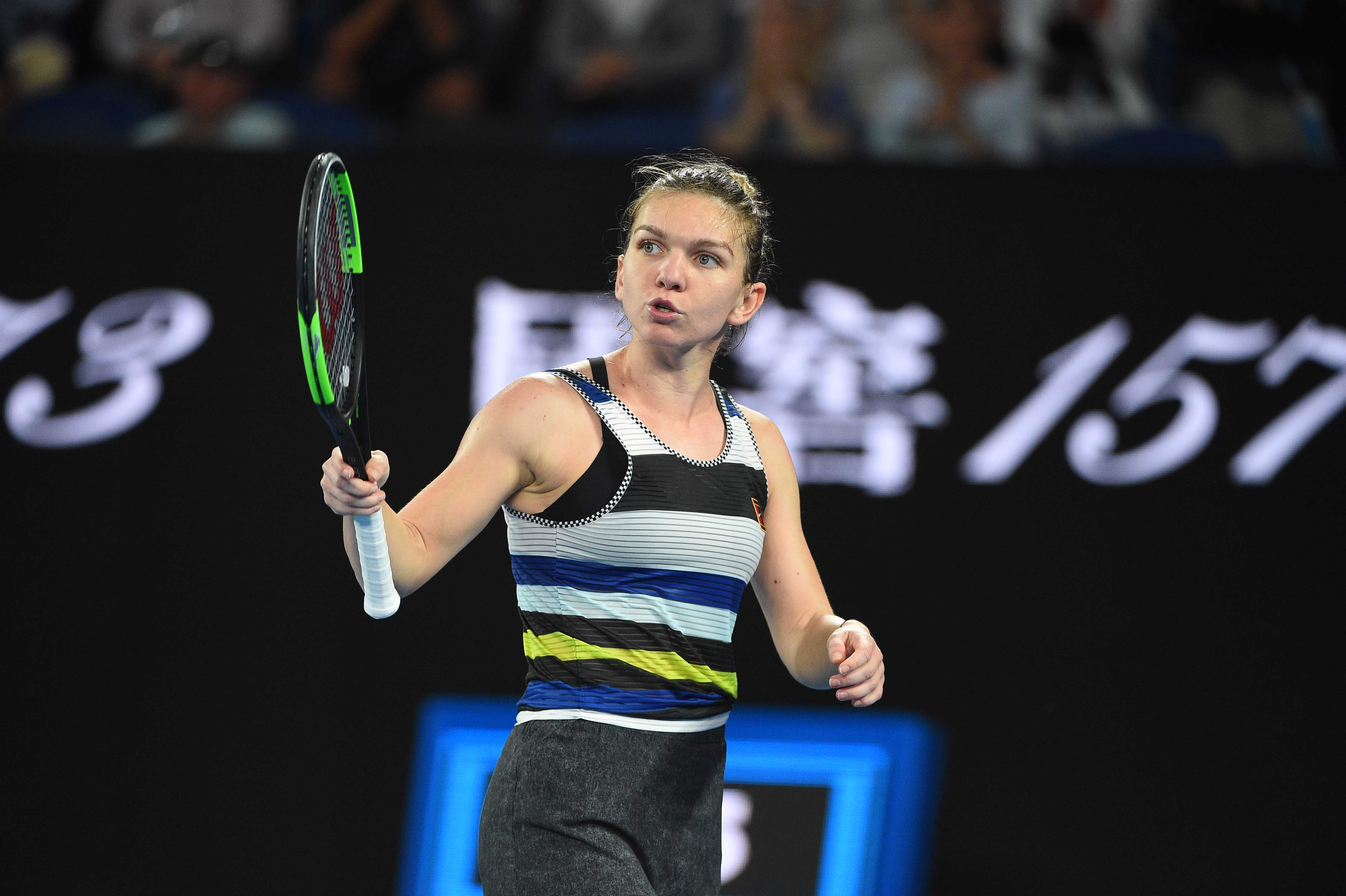 Frustration for Simona Halep at the Australian Open 2019