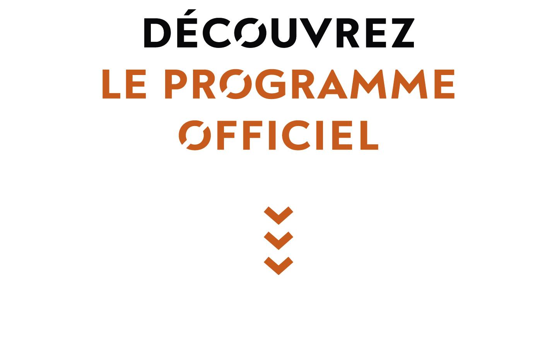 Logo, programme officiel