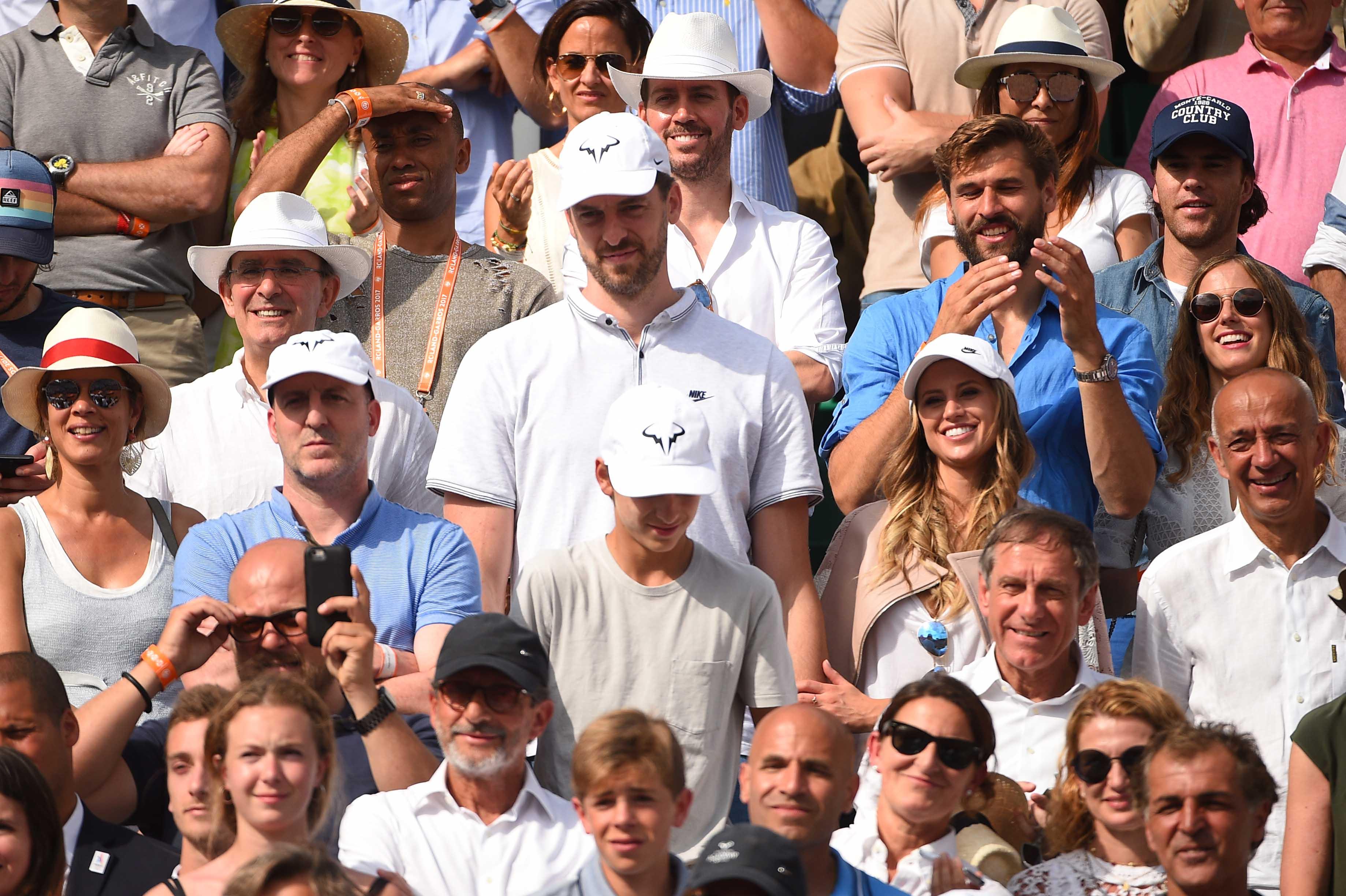 Pau Gasol at Roland-Garros 2018