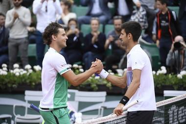 Dominic Thiem Novak Djokovic Roland Garros 2017