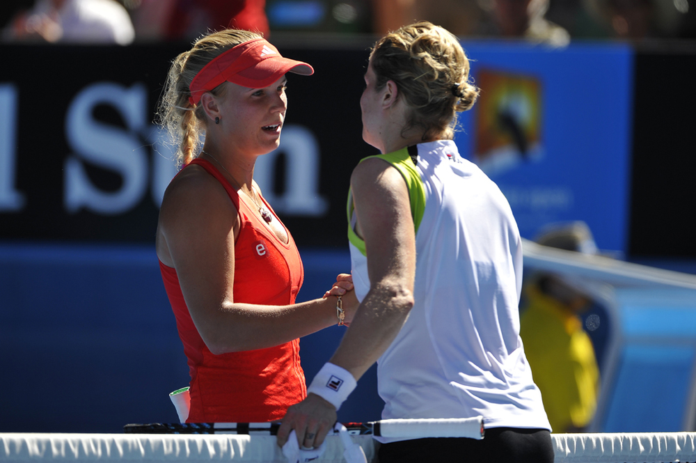 Caroline Wozniacki and Kim Clijsters Australian Open