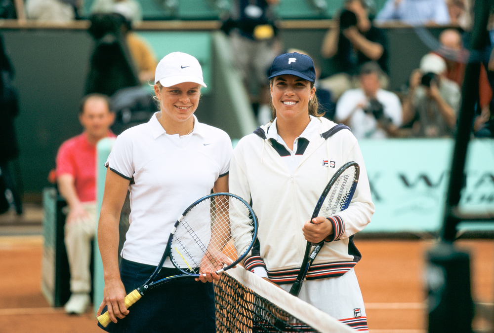 Kim Clijsters and Jennifer Capriati Roland-Garros final