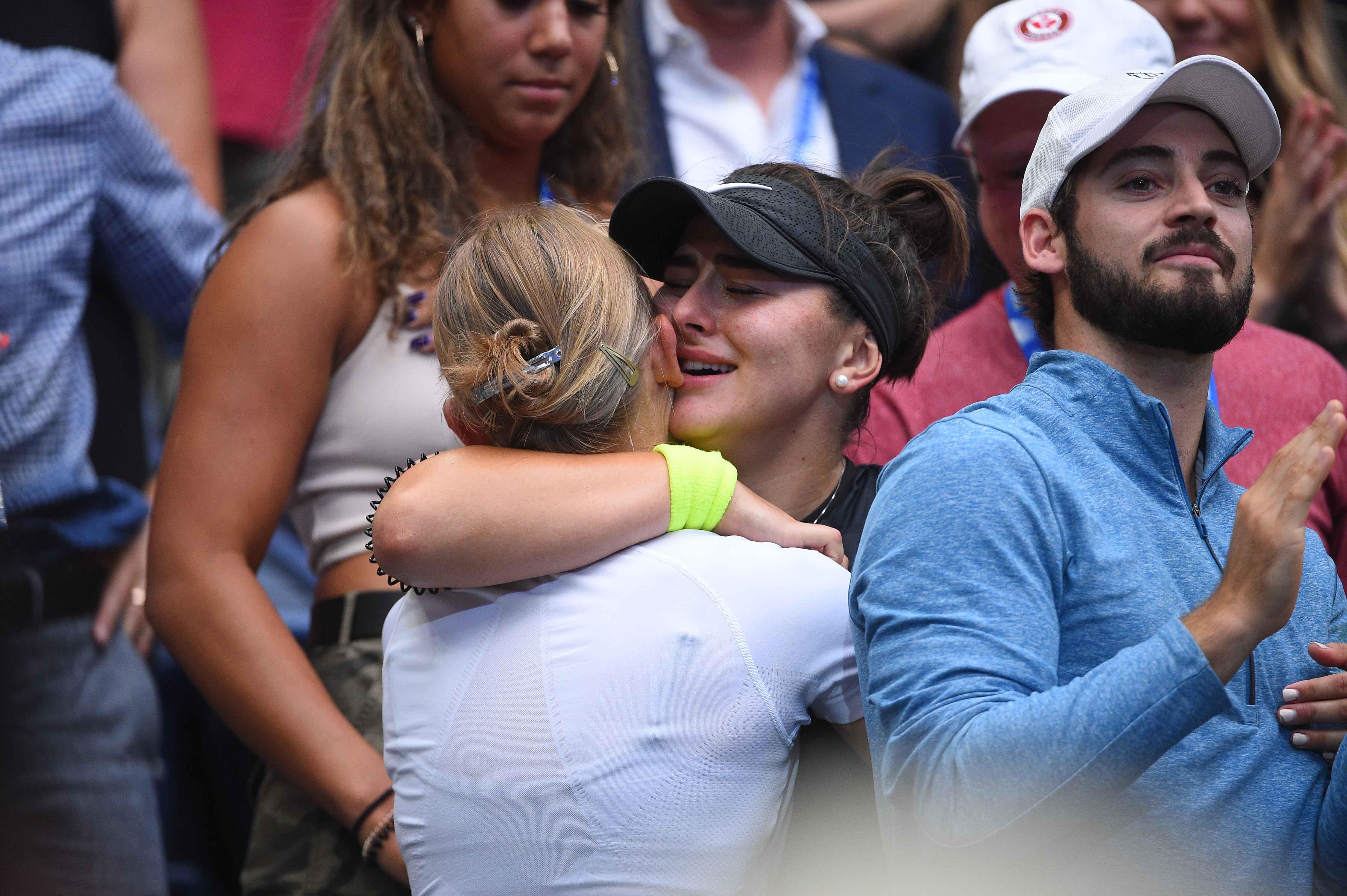Bianca Andreescu in her box 2019 US Open