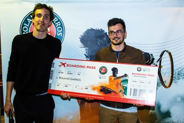 Thibault Karmaly vainqueur eSeries Roland-Garros à Paris/ Thibault Karmaly winners of the parisian stage of the eSeries Roland-Garros