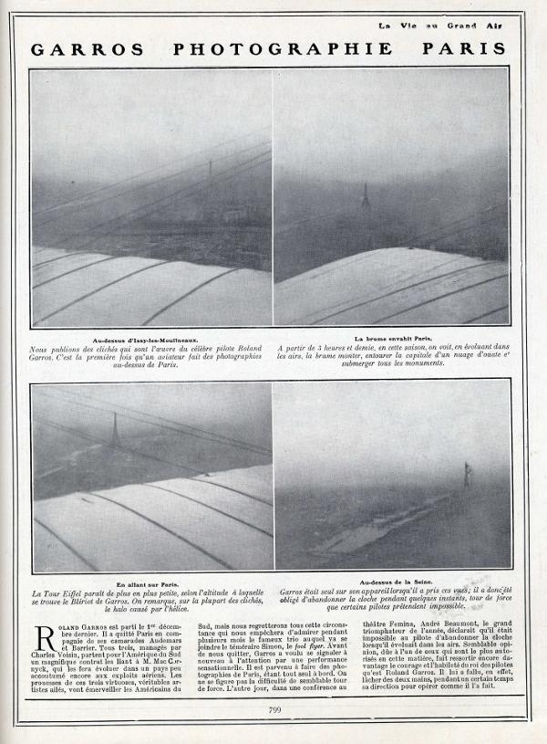 Roland Garros aviateur photographie 1911.