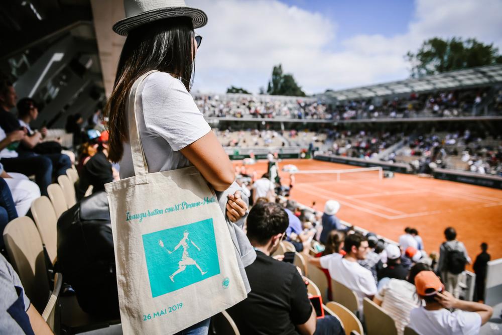 Roland-Garros 2019 - Court Simonne-Mathieu - inauguration - sac