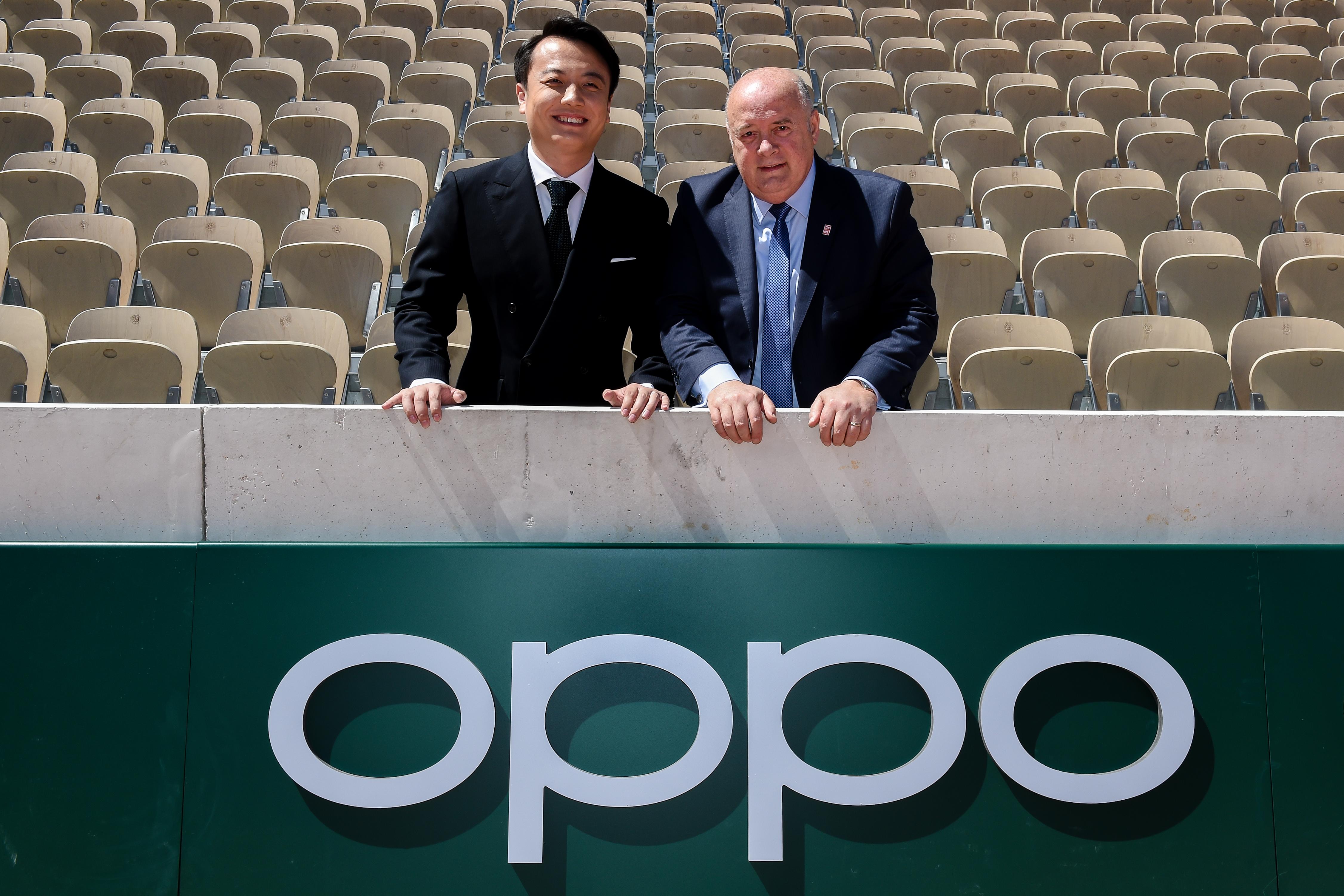 Signature du partenariat OPPO FFT en présence de Bernard Giudicielli et Brian Shen, Vice President, OPPO