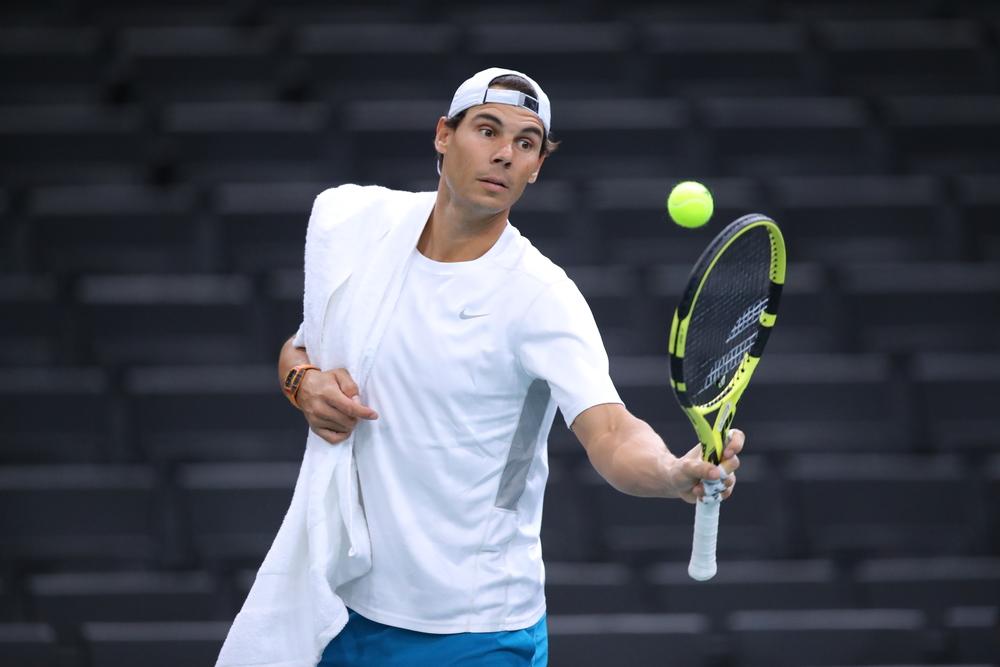 Rafael Nadal ahead of the 2018 Rolex Paris Masters