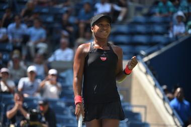 Naomi Osaka all smile at the US Open 2018