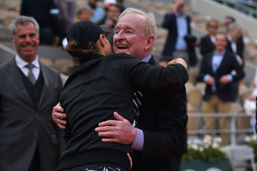 Ashleigh Barty and Rod Laver