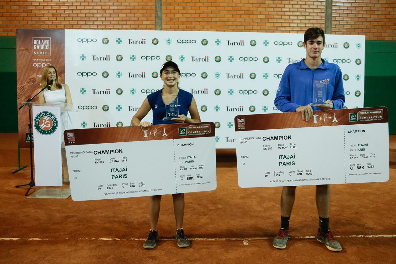 Camilla Bossi and Gustavo Heide winners of the 2019 Roland Garros Junior Wild Card Series