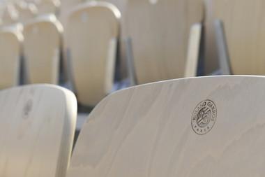 sièges Suzanne-Lenglen Roland-Garros 2018.