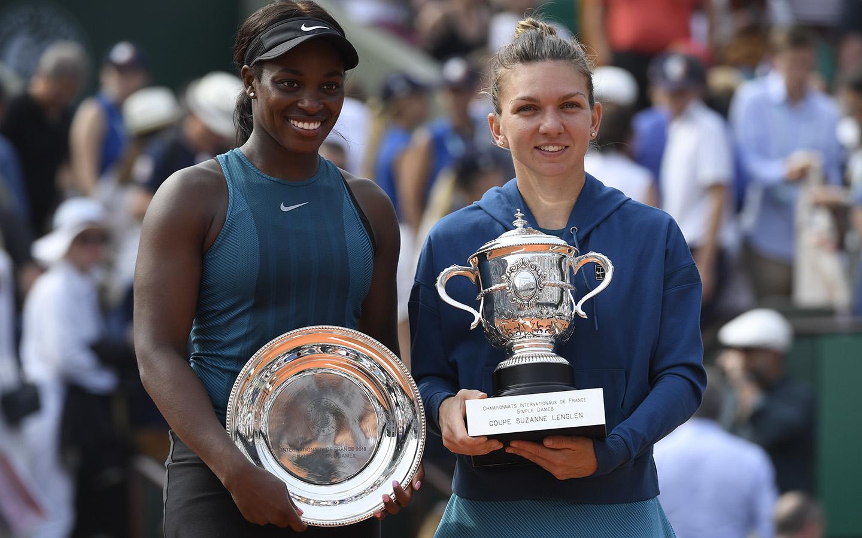 Sloane Stephens et Simona Halep, Simple dames Roland-Garros 2018
