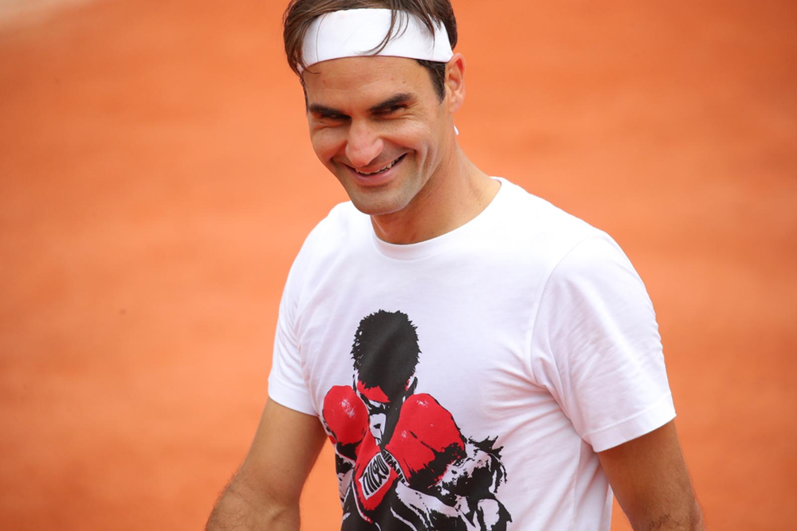 Roger Federer - Roland-Garros 2019 first practice