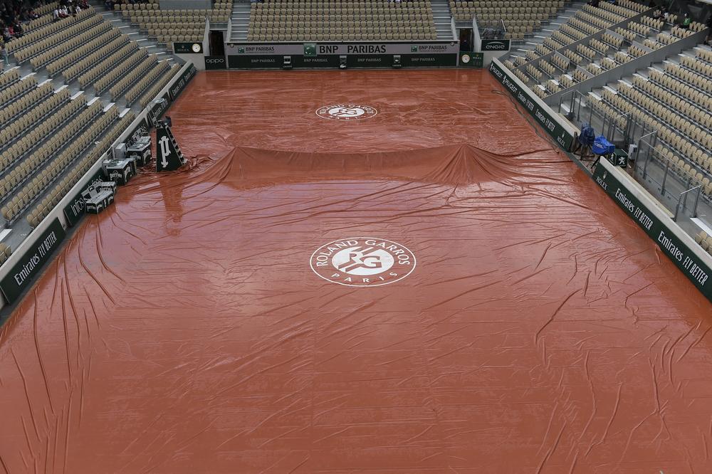 Roland-Garros 2019 - bâche - pluie