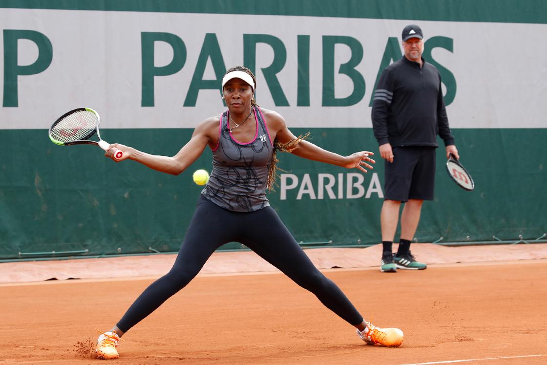 Venus Williams practice entrainement Roland-Garros 2018