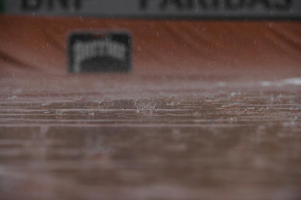 Pluie, Roland Garros 2018