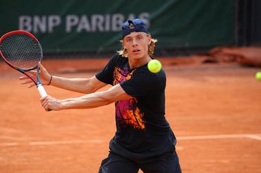 Denis Shapovalov practice / entraînement Roland-Garros 2018