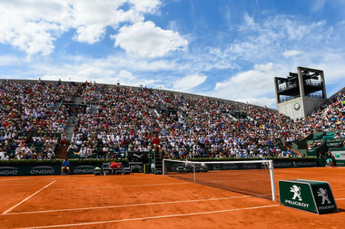 Roland-Garros court Suzanne-Lenglen Paris French Open.