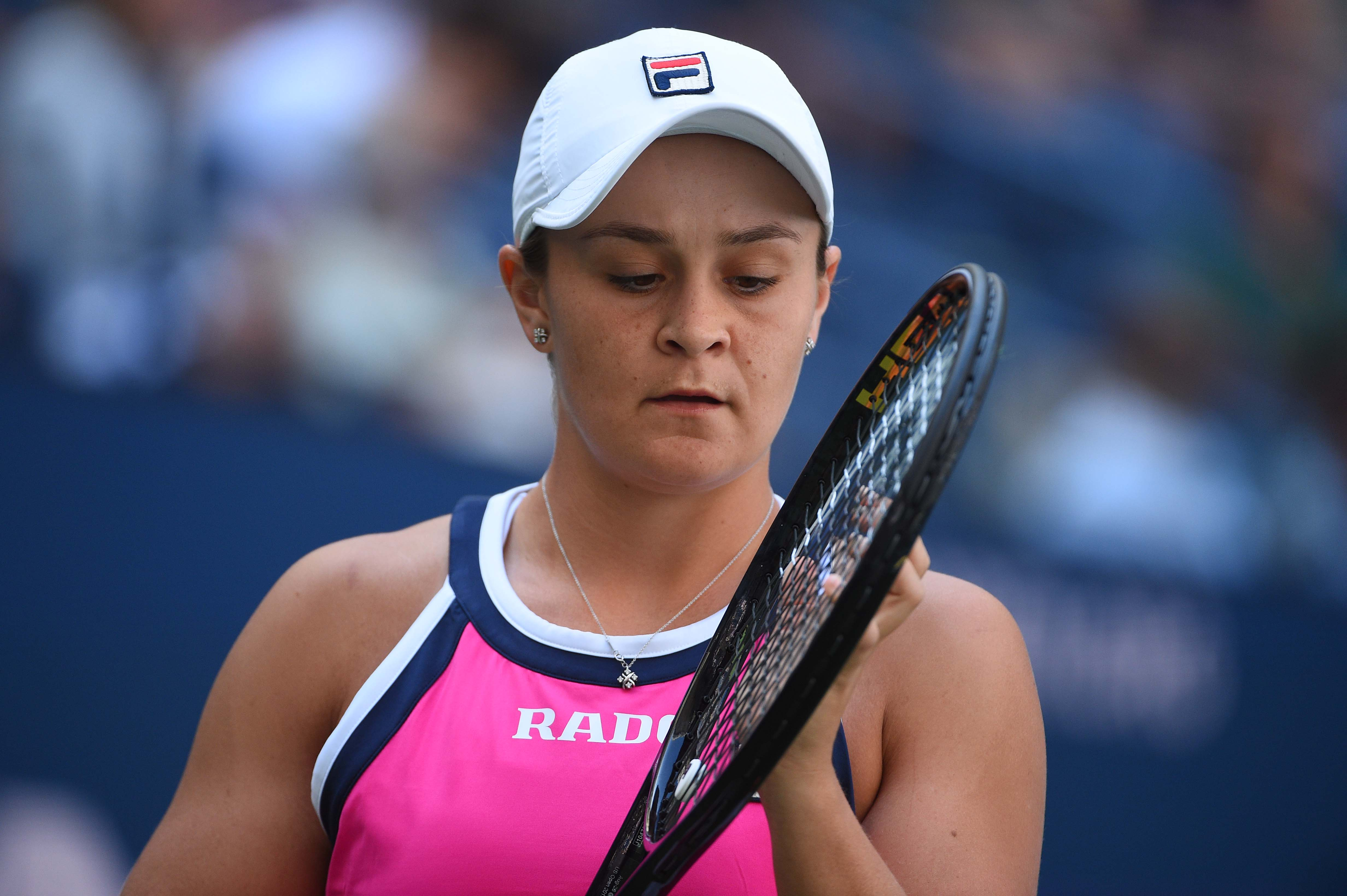 Ashleigh Barty focused during the 2019 US Open