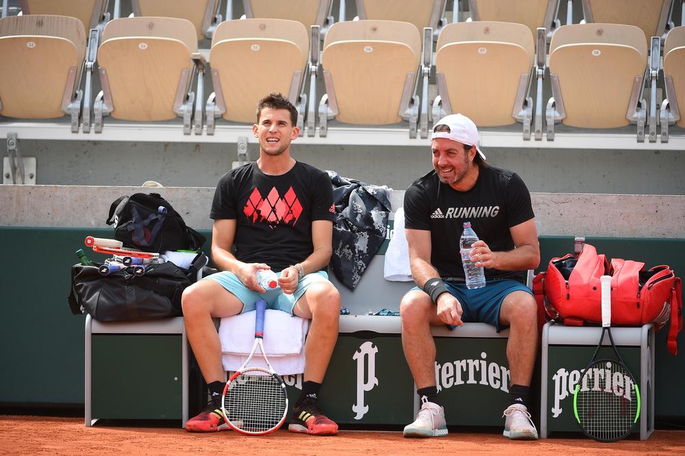 Dominic Thiem - Nicolas Massu - Roland-Garros 2019 - entraînement