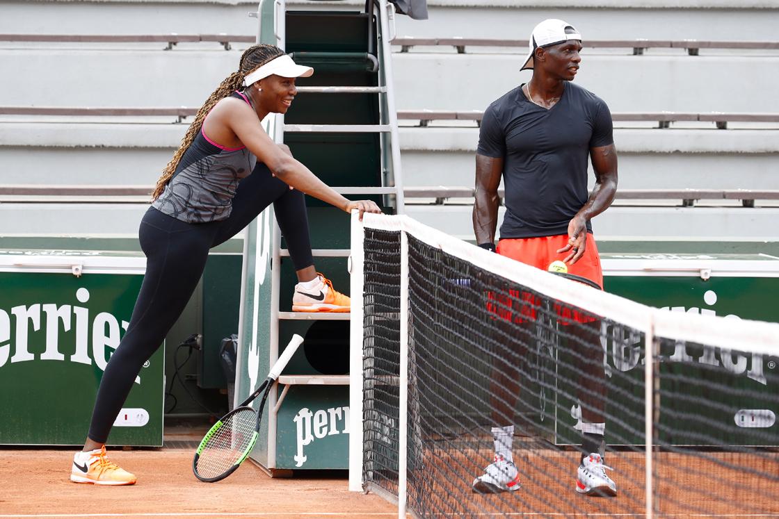 Venus Williams entraînement Roland-Garros 2018