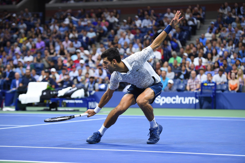 Beautiful defense from Novak Djokovic during the 2018 US Open