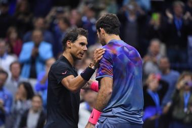 Rafael Nadal and Juan Martin del Potro at the 2017 US Open