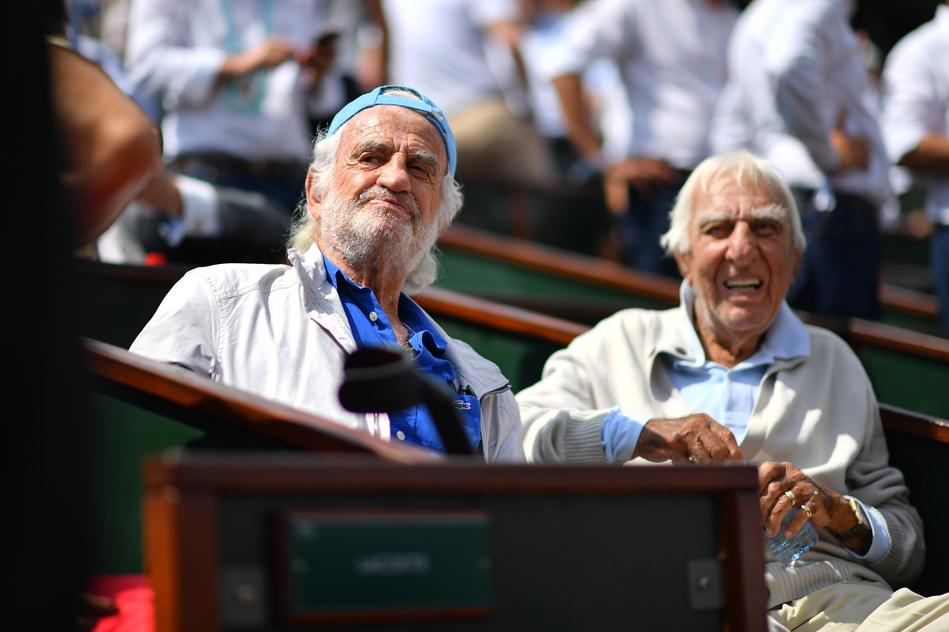 Jean-Paul Belmondo et Charles Gérard Roland-Garros 2018