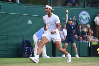 Rafael Nadal's joy Wimbledon 2018