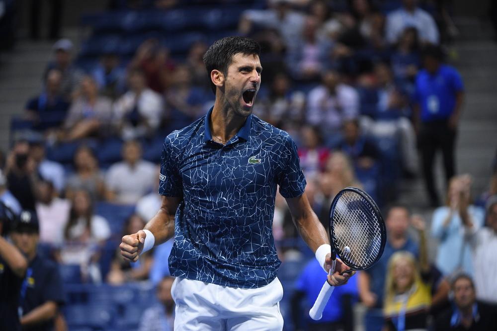 Novak Djokovic joy US Open 2018