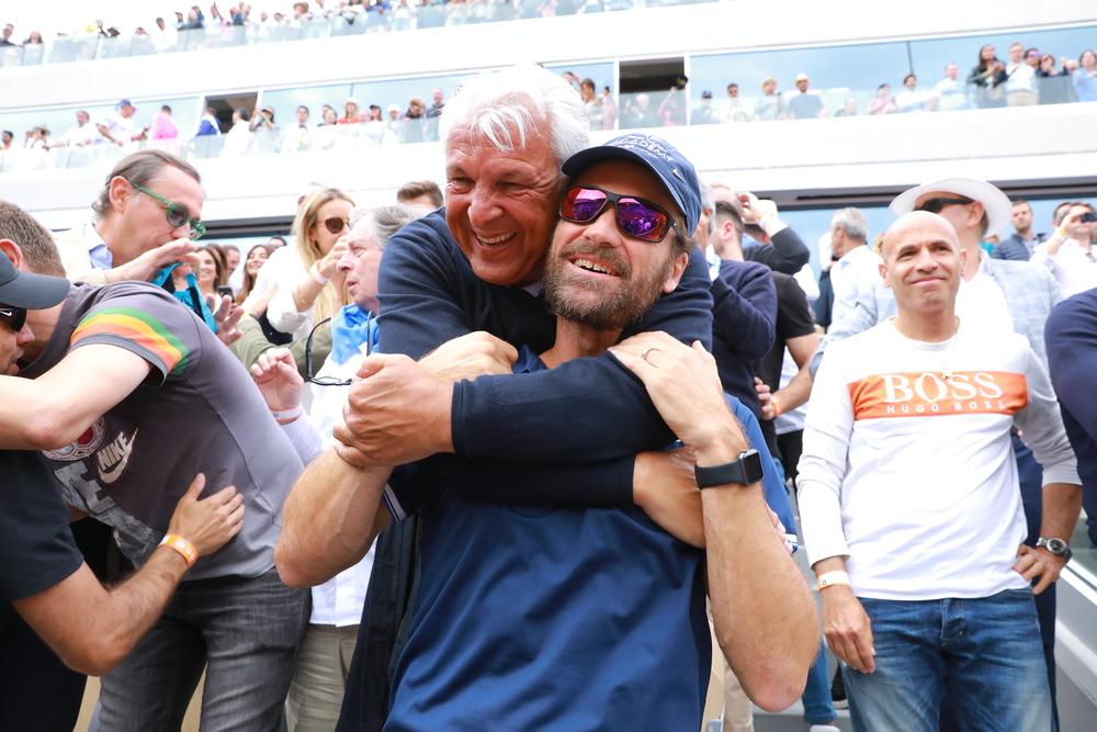 Carlos Moya et le père de Rafael Nadal - Roland-Garros 2019