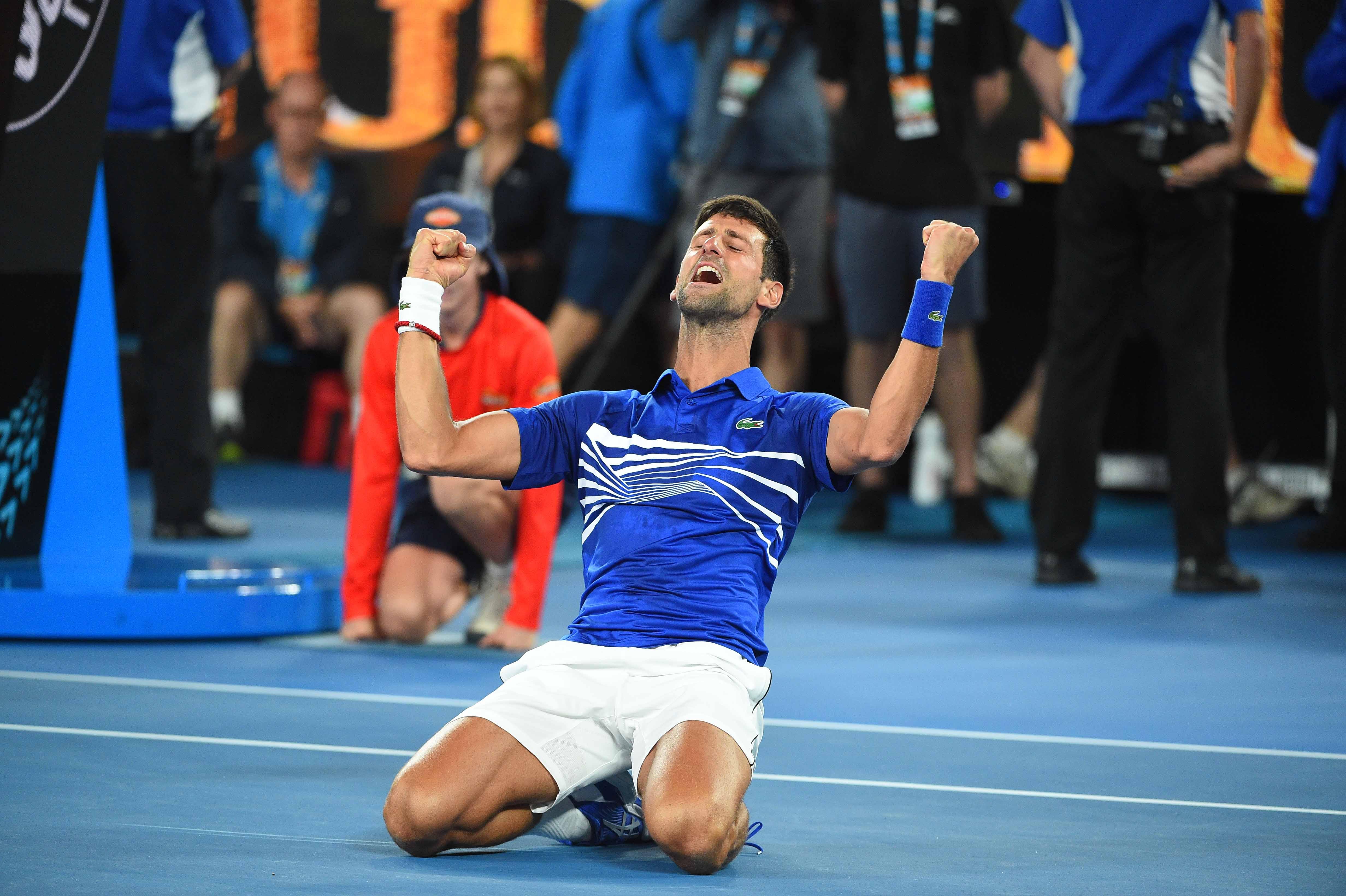 Joy for BNovak Djokovic as he wins the 2019 Australian Open